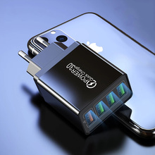 48W Quick Charger 3.0 USB Charger For iphone Samsung Tablet