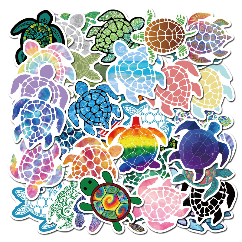 40PCS Colorful Turtle Cartoon Cute Animal Sticker For Case DIY Luggage Laptop Skateboard Motorcycle Bicycle Decal Stickers F4