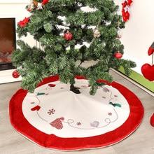 2019 Xmas Decor 48inch Christmas Tree Skirt Aprons Velvet Elk Carpet Decorations For Home New Year