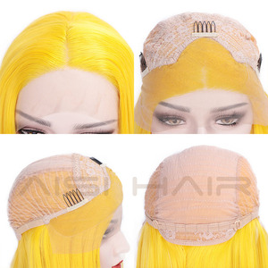Image 4 - AISI HAIR White Synthetic Lace Front Wig Long Straight Wigs For Women 24Inch Middle Part Black Red Cosplay or Party Wigs