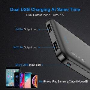 Image 2 - RAXFLY 10000 мАч power Bank для всех мобильных телефонов Dual USB портативный зарядный внешний аккумулятор Ультра тонкое зарядное устройство power bank for xiaomi повербанк внешний аккумулятор пауэр банк powerbank