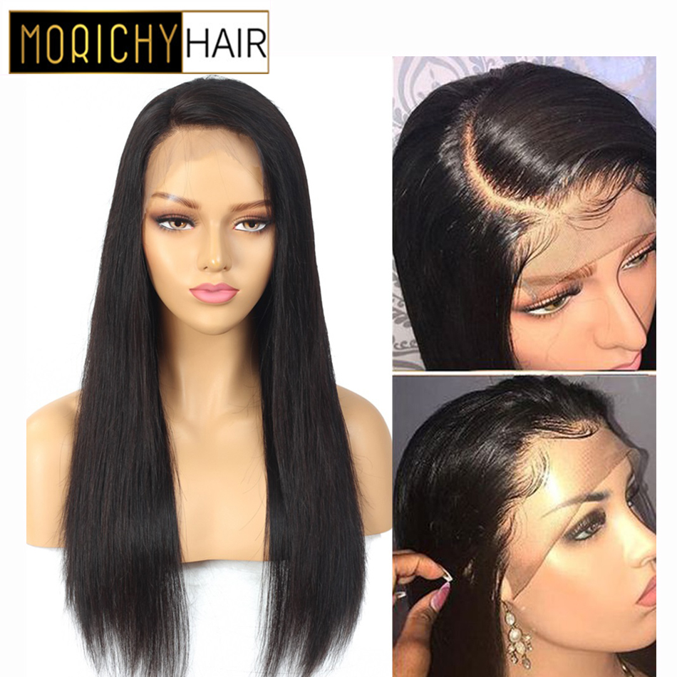 Morichy Straight 13x4 Lace Frontal Human Hair Wigs Pre Plucked Hairline With Baby Hair Malaysian Lace Frontal Human Hair Wigs