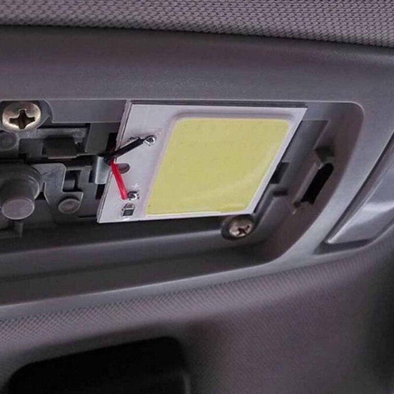 Map Light Bulb Panel Universal T10 Festoon 12 SMD LED Interior Dome Purple