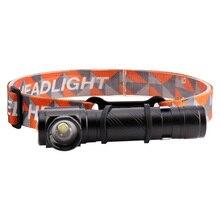 4 режима 80000 люмен фары светодиодный сильный налобный фонарь с аккумулятором USB T6 фонарик