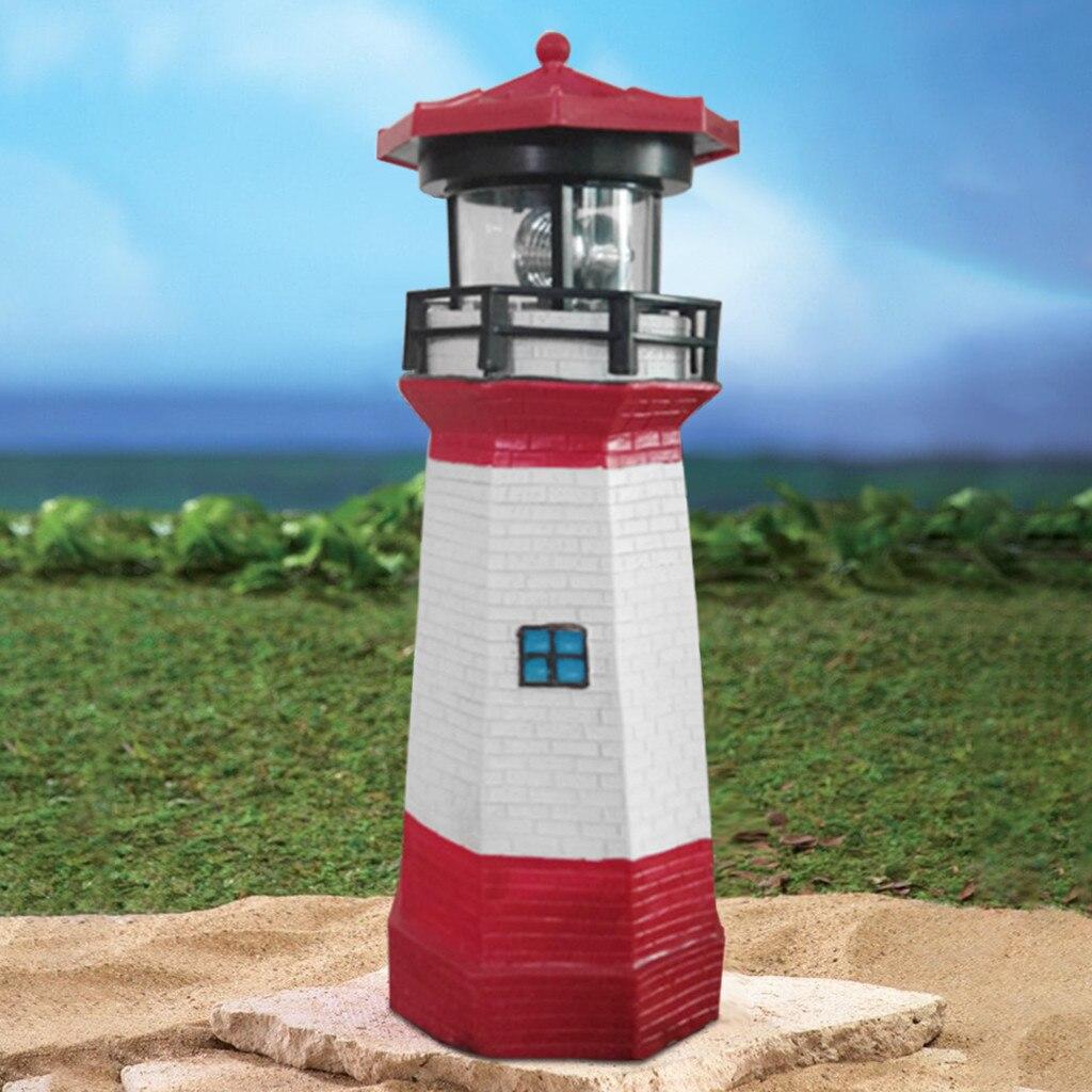 Garden Rotatable Beacon Energy Saving Smoke Towers Durable Solar Light Outdoor