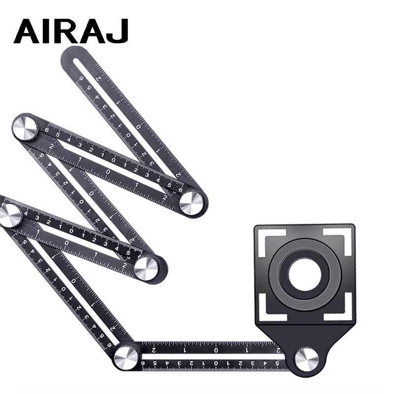 Universal six-fold Ruler Tile Hole Locator High-precision Adjustable Wall Brick Auxiliary Tools
