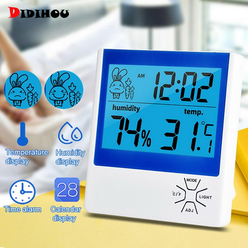 Multifunction Electronic LCD Digital Display Quality Thermometer Hygrometer Temperature Humidity Function Indoor Digital