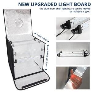 Image 4 - Travor F40A 디 밍이 가능한 접는 사진 상자 40*40 cm LED 라이트 박스 사진 스튜디오 탁상 촬영 사진 상자 5 색 배경