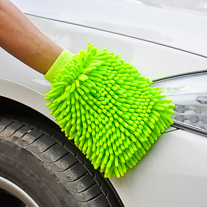 Ultrafine Fiber Chenille Anthozoan Car Wash Gloves Brushes Microfiber Car Motorcycle Washer Car Care Cleaning Brushes