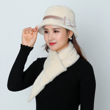 2019 Hot Sale Women Winter Knitted Skullies Super Soft Scarf Thickening Suits Warm Hat Baggy Beanies Female Headwear Cap