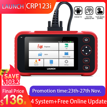 LAUNCH X431 CRP123i OBD OBD2 Coder Reader Scanner 4 System Diagnostic OBD 2 Auto Scanner Car Diagnostic Tool vs CRP123X CRP123E launch x431 crp123i obd obd2 coder reader scanner 4 system diagnostic obd 2 auto scanner car diagnostic tool vs crp123x crp123e