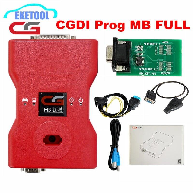 Nuovo Originale CGDI Prog MB Per Benz Chiave Programmatore Supporto Tutta la Chiave Persa con il Pieno di SIM Card e Adattatori ELV Adattatore di Riparazione e MB Simulatore