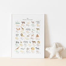 Safari Animal Alphabet Poster Nursery Boho Canvas Painting Baby Art Print Nordic Modern Wall Picture For Kids Room Home Decor