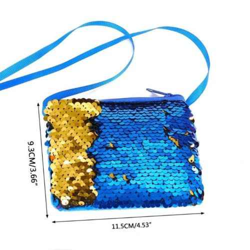 1Pcs SHINY Sequins กระเป๋าเล็กๆกระเป๋าสตางค์กระเป๋าสตางค์สุภาพสตรีกระเป๋าถือ Crossbody กระเป๋ากระเป๋าเด็กเด็ก AU