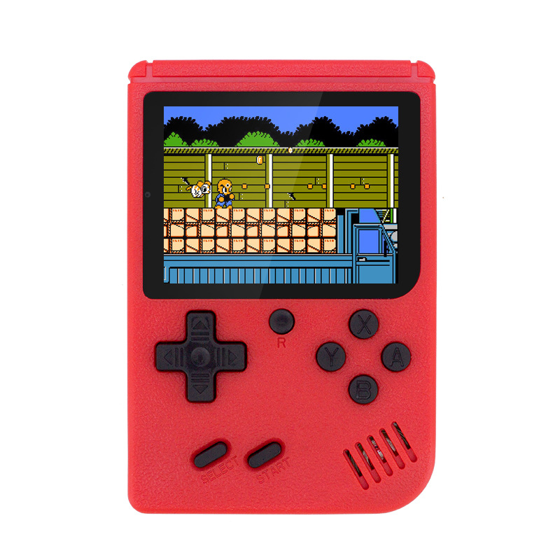 New Built-in 400 Games 800mAh Battery Retro Video Handheld Game Console+Gamepad 2 Players Doubles 3.0 Inch Color LCD Game Player