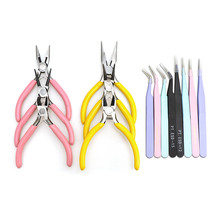 Tweezer Tool Jewelry Pliers Tool Vise Round Nose Plier Tweezers Beading Cutting Wire Pliers Making Spoon Tool DIY Jewelry Making
