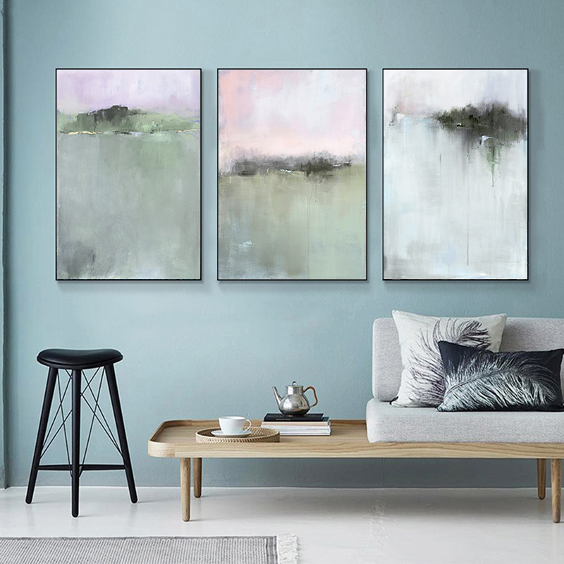 Hot Discount 864f5 3 Panels Nordic Abstract Poster Canvas