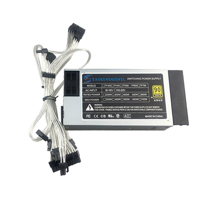Блок питания для ПК 500 Вт ATX MINI 1U FLEX ITX ATX Mini, 600 Вт 500 Вт, модульный гибкий блок питания 1U 500 Вт для сервера NAS POS 110 В
