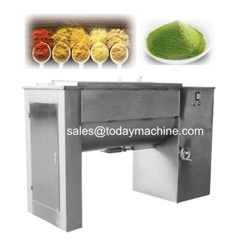 mixing of solid-solid (ie powder and powder) solid-paste, ribbon mixer blender, machine