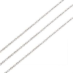 Image 5 - 100m/roll Silver/Gold/Platinum/Bronze Color Unwelded Oval Iron Cross Chains for DIY Necklace Bracelet Jewelry Making Materials