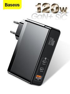 Baseus Usb-C-Charger Gan Type-C iPad Macbook iPhone Xiaomi Samsung Fast QC PD Sic 120W