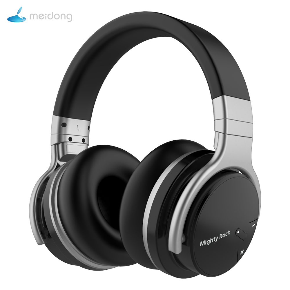 Mighty Rock E7C Active Noise Cancelling Headphone Bluetooth Headphones  Wireless Headset 30 Hours Over Ear With Microphone