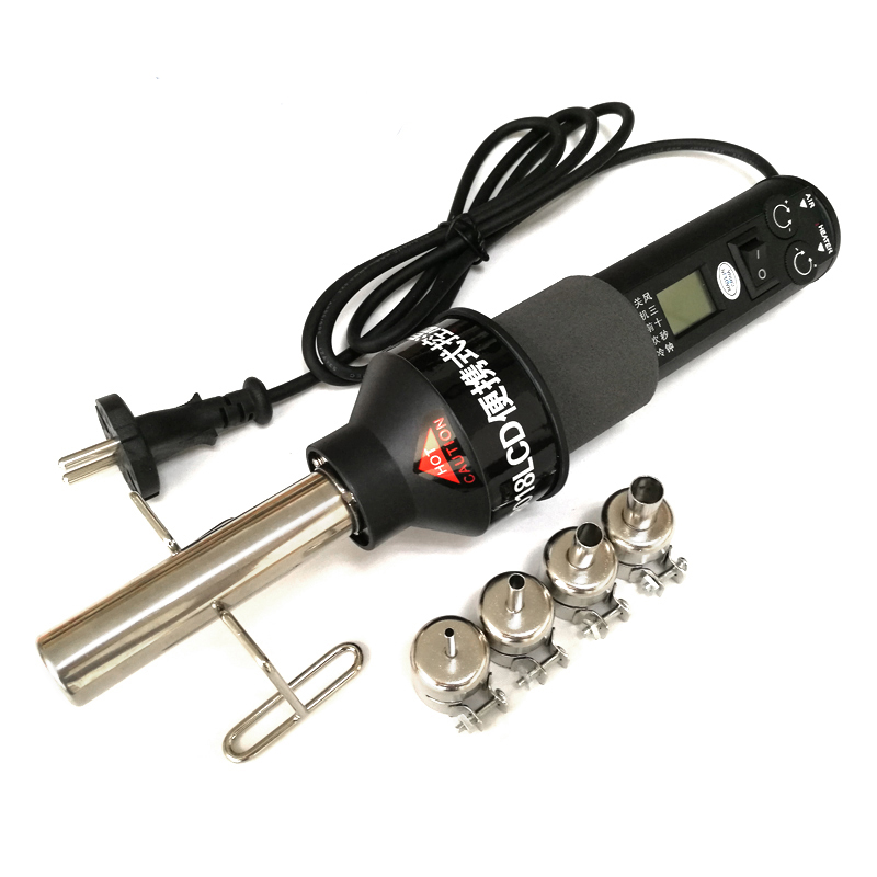 Hot Air Blower Heat Gun 8018lcd 220v 450w Bga Rework  Soldering Station Welding Solder Iron 4 BGA Nozzles VS 858 8858 8032 858D