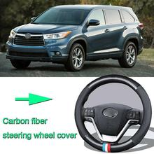 High Quality Car Non-slip carbon fiber leather car steering wheel cover for Toyota Highlander high quality brand new power steering rack assy for toyota corolla car steering rack