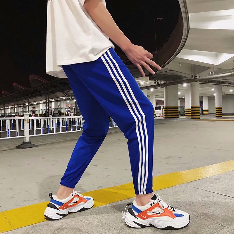 2018 Autumn New Style Trend Men And Women All Can Wear With Three Legs Athletic Pants Uniform Pants Loose And Plus-sized