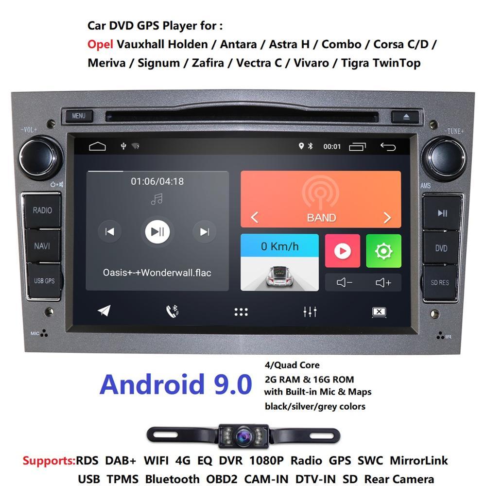 IPS DSP 4GB Android 9.0 2 DIN CAR GPS for opel Vauxhall Astra H G J Vectra Antara Zafira Corsa Vivaro Meriva Veda DVD PLAYER