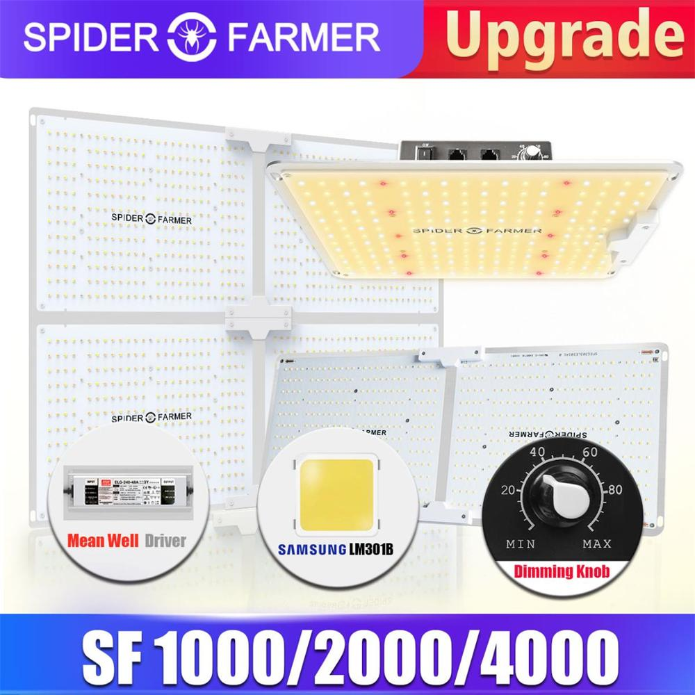 Spider Farmer Dimmable 1000W 2000W 4000W LED Grow lights Grow Tent Indoor Grow