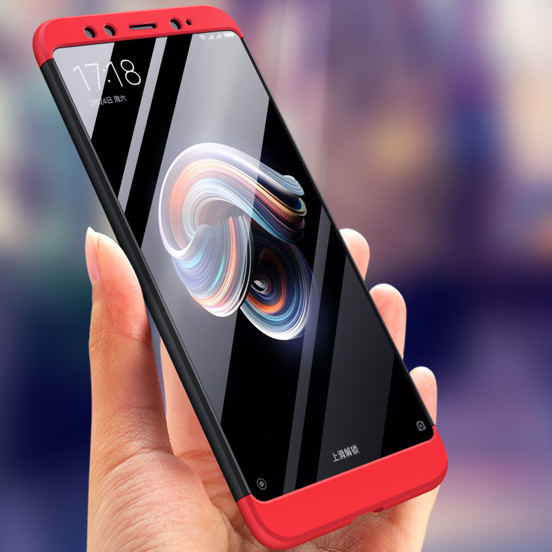 <font><b>Xiaomi</b></font> <font><b>Mi</b></font> <font><b>A2</b></font> 360 Case Mi6X Colored 360 Protection Full Body Cover Hard Matte Case for <font><b>Xiaomi</b></font> <font><b>MiA2</b></font> <font><b>Mi</b></font> 6X Cover with Glass Film image