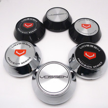 4pcs 65mm For VOSSEN Wheel Center Hub Cap Covers Car Styling Emblem Badge Logo Rims Cover 45mm Stickers Accessories