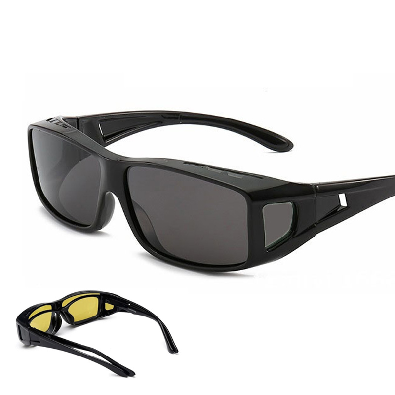 Driver's Night Vision Yellow Glasses, Sand-proof Wind Riding Glasses, Labor Protection Goggles