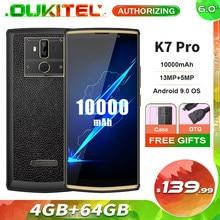 Oukitel K7 Pro 6.0 ''18:9 10000Mah Smartphone MT6763 4Gb 64Gb Android 9.0 Vingerafdruk Gezicht Id 9V/2A Mobiele Telefoon