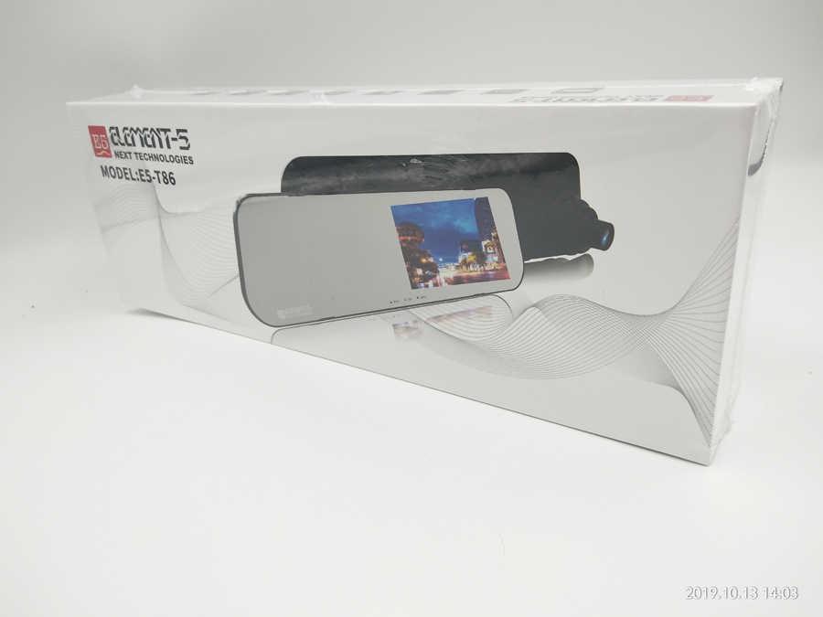 4.3 Cal ekran kamera samochodowa cam dvr podwójny obiektyw lusterko wsteczne auto dashcam rejestrator rejestrator pojazdu wideo samochodowe full hd