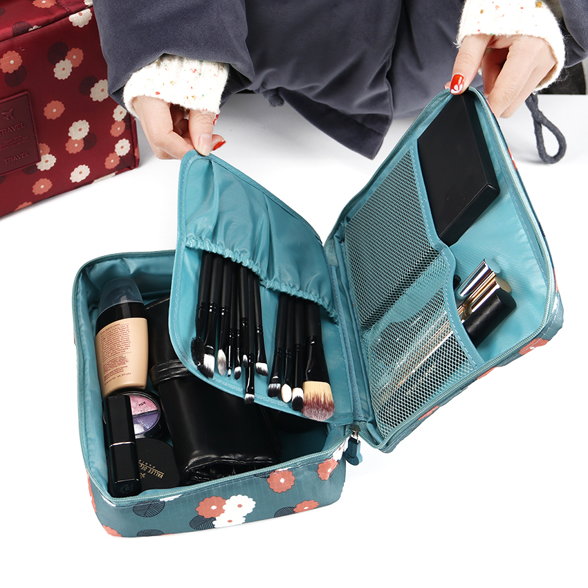 Neceser Zipper Profession Women Makeup Bag Cosmetic Bag Beauty Case Make Up Organizer Toiletry Bag Storage Travel Wash Pouch