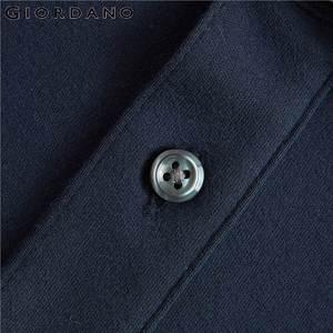 Image 5 - Giordano Men Polo Shirt Men Thick Solid Long Sleeve Polo Men Shirt Winter Warm Slim Soft Cotton Fabric 01019779