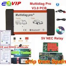 Профессиональный мультидиагностический Bluetooth,00/. R3 Keygen V3.0 NEC 9241A двойной для зеленой печатной платы TCS CDP Pro OBD2 автомобиль грузовик диагностический инструмент