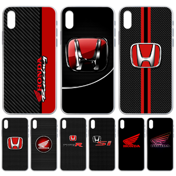 HONDA JDM civic car Phone Case cover For iphone 4 4S 5 5C 5S 6 6S PLUS 7 8 X XR XS 11 PRO SE 2020 MAX transparent cell cover image