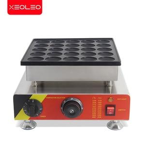 Image 2 - XEOLEO 25 delik gözleme makinesi 800W Dorayaki maker yapışmaz Poffertjes makinesi Mini Dorayaki izgara Mini kek üreticisi