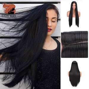 Wig Synthetic-Wigs Heat-Resistant-Fiber Lace-Front Natural Straight Small Long ELEGANT