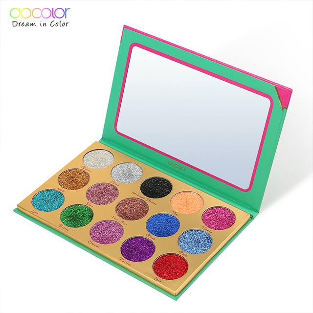 Docolor Lấp Lánh Eyeshadow Palette 15 Màu Nhiệt Lắc Chân Nữ Trang Điểm Có Khả Năng Bám Màu Rất Cao Chuyên Nghiệp Phấn Mắt Đựng Mỹ Phẩm