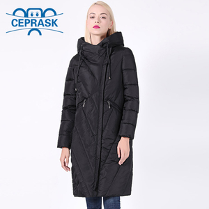 Image 2 - 2020 New Winter Coat Women Plus Size Long Windproof Collar Women Parka Stylish Hooded Thick Womens Jacket CEPRASK