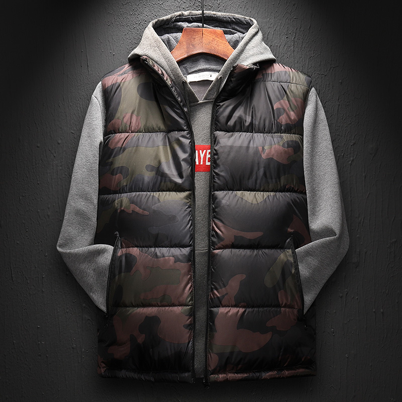 2019 Camouflage Vest Mens Winter Waistcoat Male Sleeveless Jacket Man Atumn Windbreak Casual Vests Slim Fit Outwear Vest Men 6XL