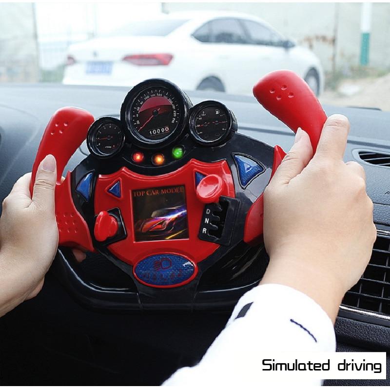 Multifunctional Steering Wheel Toys Simulate The Posture Children Drive Co-pilot Children's Toys Souptoys Lighting Music
