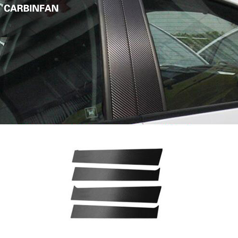 For Nissan Kicks 2017-2018 Black PC plastic Window Pillar Posts Cover Trim 8PCS
