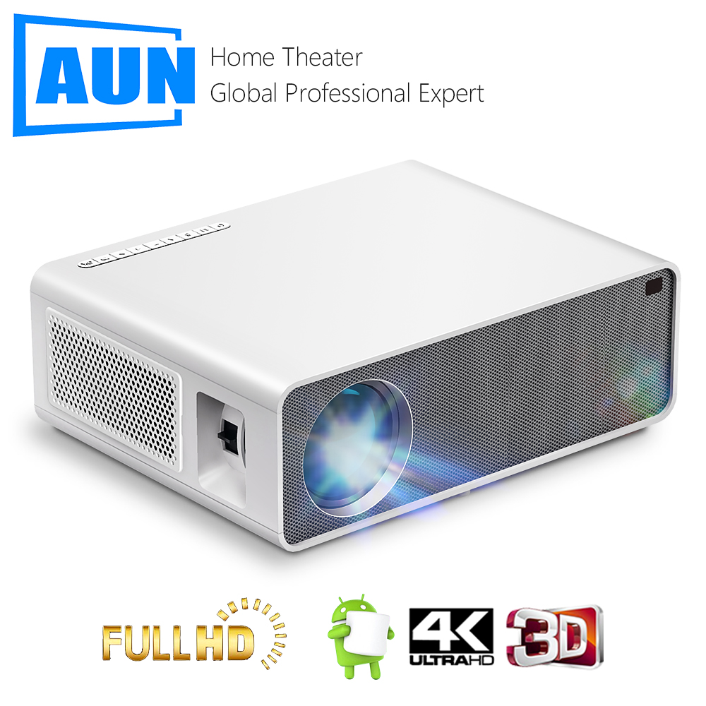 AUN Full HD Projector AKEY7Max Native 1080P 7500 Lumen 3D Home Cinema Support 4K Compatible with PC TV Box PS4