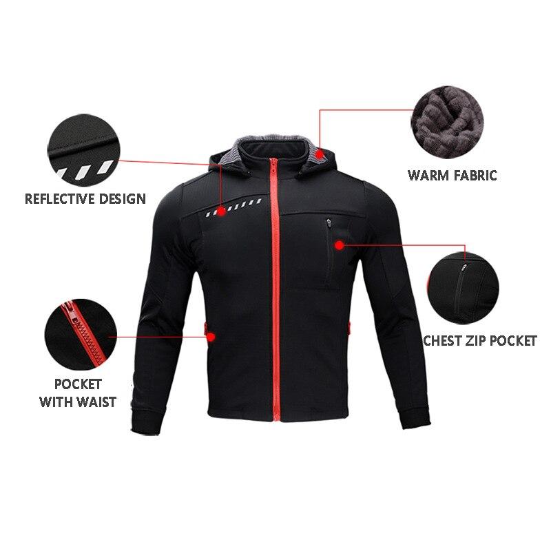 Hiver thermique Sports de plein air veste cyclisme Maillot à manches longues vélo vêtements imperméable coupe vent XINTOWN Maillot vtt vêtements - 6