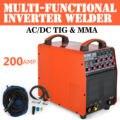 WIG TIG AC/DC 200 Amp Pulse Schweißgerät Alu und E-Hand MMA HF Inverter IGBT